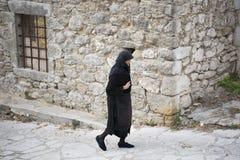 Une promenade dans le village de Spanochori Photo libre de droits