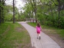 Une promenade en parc Photos stock