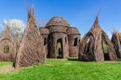Une promenade entre les sculptures en Dougherty Images stock