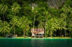 Une résidence d'île en EL Nido Philippines de Palawan images libres de droits
