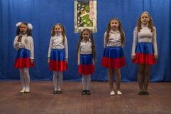 Une réunion de fête et un concert sur 9 peuvent 2017 dans la région de Kaluga de la Russie Photos stock