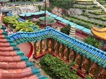 Une rangée des statues de Bouddha Images libres de droits