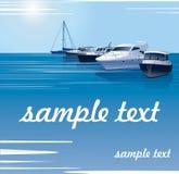 Une rangée des yachts, bateaux sur la mer illustration libre de droits