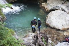 Une recherche et une équipe de secours de rivière en service Photographie stock libre de droits