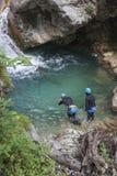 Une recherche et une équipe de secours de rivière en service Photos stock