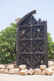 Une reproduction de la vieille porte, dans Sun City, l'Afrique du Sud Photo stock