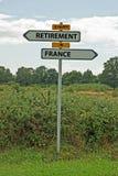 Une retraite heureuse en France Images libres de droits