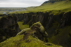 Une River Valley de l'Islande Image libre de droits