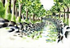 Une rivière d'été Illustration Stock