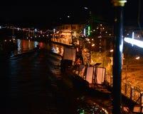 Une rivière Night_1 de festival de temple Photos stock