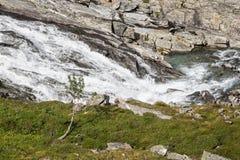 Une rivière sur le Trollstigen Photographie stock libre de droits