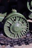 Une roue de vieille machine militaire Photographie stock libre de droits