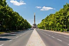 Une route à Victory Column, Berlin Photographie stock libre de droits