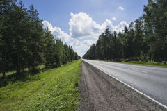 Une route de désert Photo libre de droits