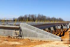 Une route en construction par le Mississip Images stock