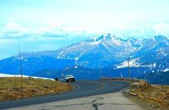 Une route en stationnement d'Estes Image libre de droits