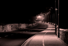 Une route isolée Image libre de droits