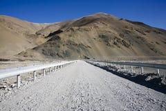 une route sur l'Himalaya Photo libre de droits