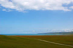 Une route vers la mer Photo libre de droits