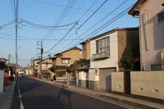 Une rue à Matsue, Japon Image stock