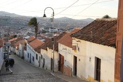 Une rue étroite dans le sucre photographie stock libre de droits