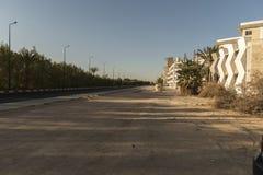 Une rue dans Hurghada Egypte Photo libre de droits