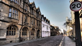 Une rue dans Oxforde, R-U image stock