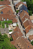 Une rue dans Rocamadour Photographie stock