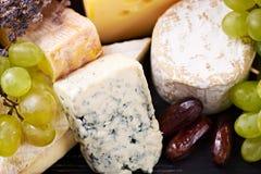 Une sélection de fromage fin Image libre de droits