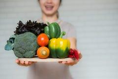 Une sélection des légumes frais pour une alimentation saine de coeur Images stock