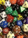 Une sélection des matrices de jeu image stock