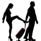 Une séparation de conflit d'homme et de femme de couples image stock