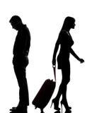 Une séparation de conflit d'homme et de femme de couples images stock