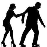 Une séparation de conflit de couples photo stock