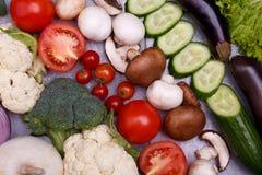 Une série de légumes frais photo stock