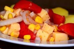 Une salade de tomate Images libres de droits