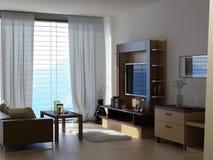 Une salle avec une vue Photo stock