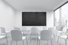 Une salle de classe ou une salle de présentation à une université ou à un bureau moderne de fantaisie illustration libre de droits