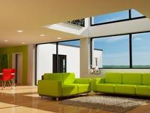 Une salle de séjour moderne Photos stock