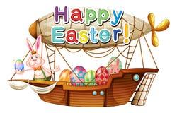 Une salutation heureuse unique de Pâques illustration stock