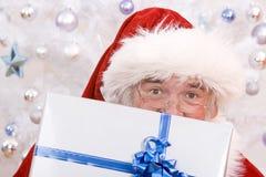 Une Santa de piaulement Photos libres de droits