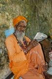 Une sauge chez Haridwar, Inde Photos stock