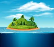 Une scène abandonnée d'île illustration libre de droits