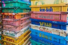Une scène aux 24 villes locale de phuket du marché d'heure photos stock