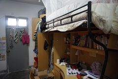 Une scène d'un dormitary chinois habituel photos libres de droits