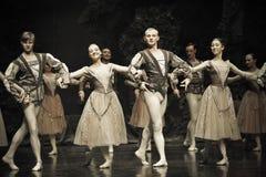 Une scène de lac swan de ballet Photographie stock