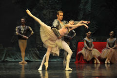 Une scène de lac swan de ballet Images libres de droits
