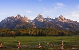 Une scène pastorale à la base du Tetons Images libres de droits