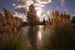 Une scène renversante de la région des lacs à l'endroit de Wakehurst, le Sussex occidental, Angleterre photographie stock