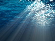 Une scène sous-marine Photo libre de droits